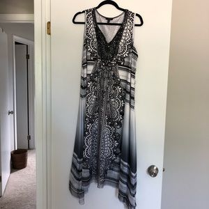 Black and white sun dress size 1X